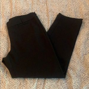 NWT WHBM black slim ankle pants, size 6